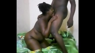 Bbw suck and fuck black guy in homemade
