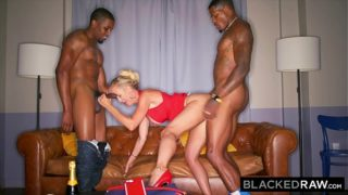 BLACKEDRAW This BBC hungry milf was craving a spit-roast