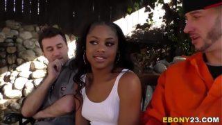 Ebony Amilian Kush Fucks Big White Cocks
