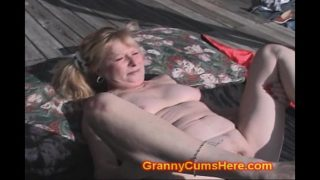 Granny FUCKED by BLACK GANG in YARD