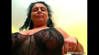 Hot black lingerie on hot chubby body