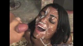 Huge Ebony Cumshot Facial Amateur Video
