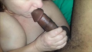 Mature Amateur With a Wet Pussy Blows BBC