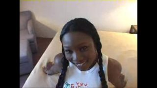 Sexy Teen with an Amazing Black Ass gets Big Facial in Black Teen Video