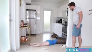 Young klutz Bambi Black nailed hard before facial