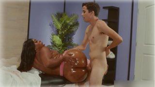 Beauty Ebony in anal sex