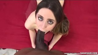 Big black cock filled a squirter hairy pussy