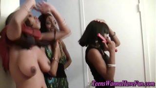 Black big tit teens flash
