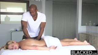 BLACKED Hot Southern Blonde Takes Big Black Cock