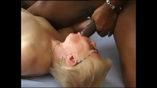 Granny gets inseminated and fucked by a black man