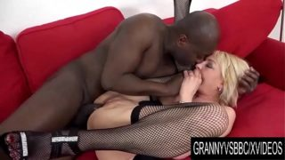 Granny Vs BBC – Adriana Love Interracial Sex Ends with an Anal Creampie