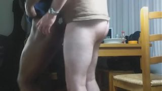 Homemade sex with a girl he met on Blacktocum.com today