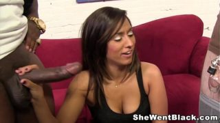 Making her man watch her fuck a Black Cock