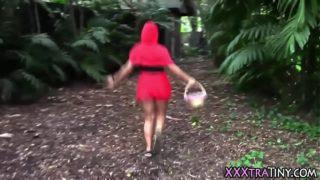 Teen red riding hood cum