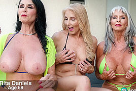 Three GILFs, two cocks and Chery's first DP – 60PlusMilfs