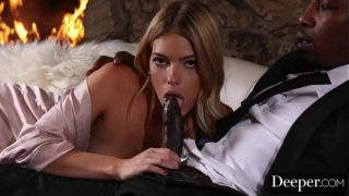 Deeper. BBC Deepthroat by Leah Lee While Husband is Sleeping
